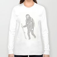 hiking Long Sleeve T-shirts featuring Hitch Hiking by veronika