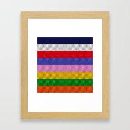 Knitted colorful stripes  Framed Art Print