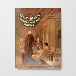 Belle of Nelson  / Whiskey poster Metal Print