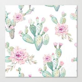 Simply Cactus Rose Canvas Print