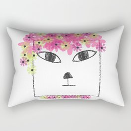 Square Cat Goes Festival Rectangular Pillow