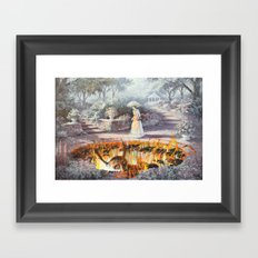 On the Way to Church Framed Art Print