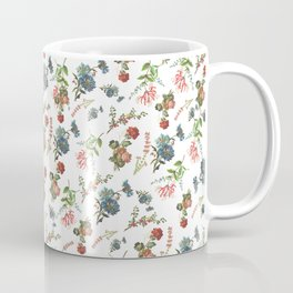 Antique Floral Pattern Coffee Mug