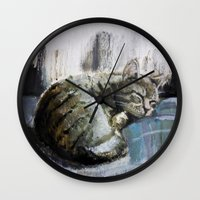 monet Wall Clocks featuring Monet by David Castillo