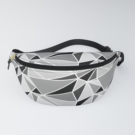 Mosaic Triangles Repeat Seamless Pattern Gray Fanny Pack