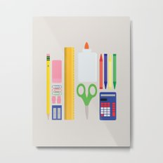School House Colored Metal Print