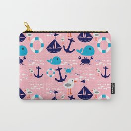 Summer boat pink Carry-All Pouch
