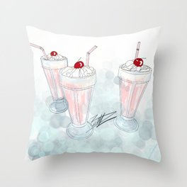 Pop's Diner Throw Pillow