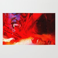 dracula Area & Throw Rugs featuring count dracula by shiva camille