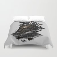 fall Duvet Covers featuring Legends Fall by nicebleed