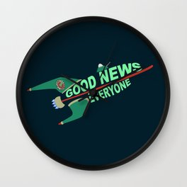 Good News Everyone Wall Clock