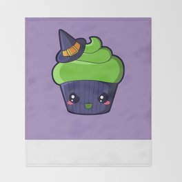 Spooky Cupcake - Wicked Witch Throw Blanket