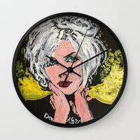 blondie Wall Clocks featuring Blondie by Matt Pecson