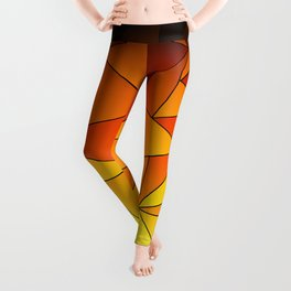 Dark Gooseberry Geometric Ombre Leggings