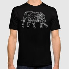 Yoga Elephant 2 Black LARGE Mens Fitted Tee