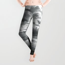 Southwest Wanderlust - Monument Valley Sunrise Black and White Leggings