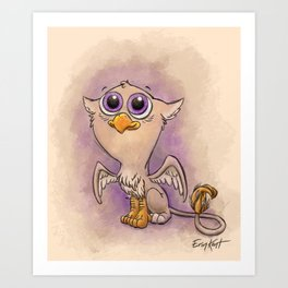 Baby Gryphon! Art Print