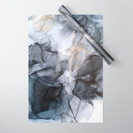 Calm but Dramatic Light Monochromatic Black & Grey Abstract Wrapping Paper
