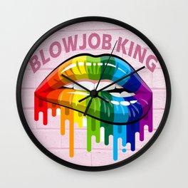 Blowjob King Wall Clock