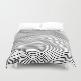 Abstract Wave Lines Duvet Cover