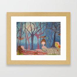 Moon Bathe Framed Art Print