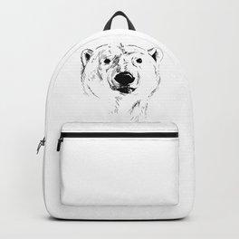 Hand Sketch Head of Polar Bear Backpack
