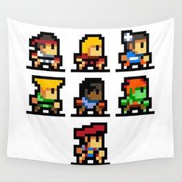 Minimalistic - Street Fighter - Pixel Art Wall Tapestry