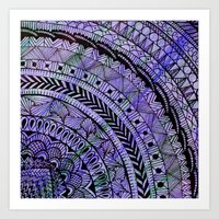 zentangle Art Prints featuring Zentangle by Doodle Frisson