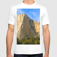 Cool Big Rock mountain MEDIUM Mens Fitted Tee White