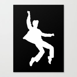 White Elvis Canvas Print
