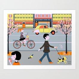 Paris sera toujours Paris Art Print