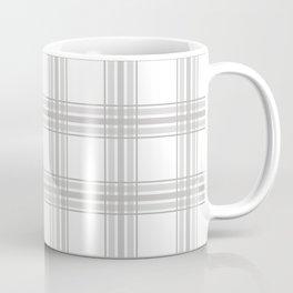 Farmhouse Plaid in Gray and White Coffee Mug