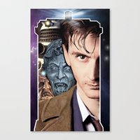 doctor who Canvas Prints featuring Doctor Who by SB Art Productions
