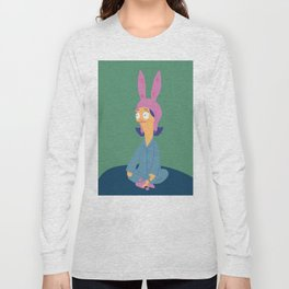 Louise in her bunny slippers Long Sleeve T-shirt