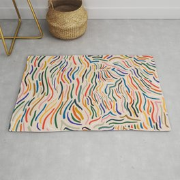 Wavy Vibes Modernist Palette Rug