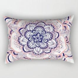 Woven Dream - Mandala in Pink, White and deep Purple Rectangular Pillow