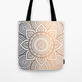 Gold Bronze Mandala Pattern Illustration Tote Bag