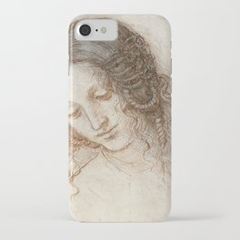 Leonardo da Vinci - Head of Leda (1506) iPhone Case