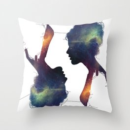 Stellar Girl Throw Pillow