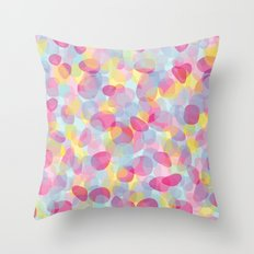 Pebbles Pink Throw Pillow