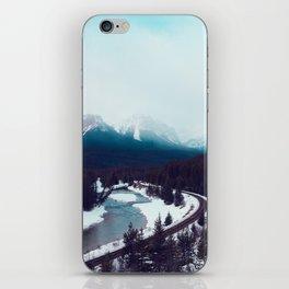 Canadian Rocky Mountains, Banff, Lake Louise, Winter Landscape iPhone Skin