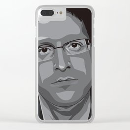 Edward Snowden Clear iPhone Case