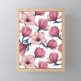 Magnolia garden 2 Framed Mini Art Print