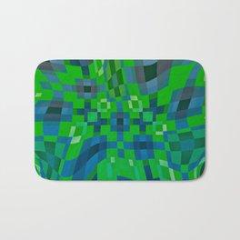 ADAGE emerald green, royal blue abstract design Bath Mat