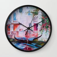venice Wall Clocks featuring Venice by OLHADARCHUK