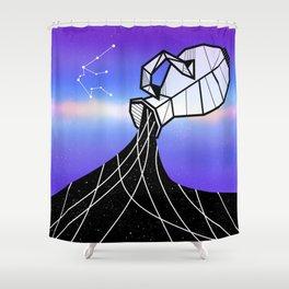 Aquarius Zodiac Sign Shower Curtain