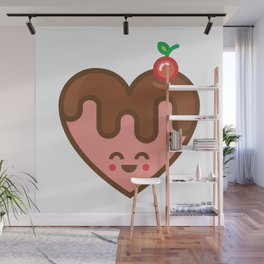 cherry heart Wall Mural