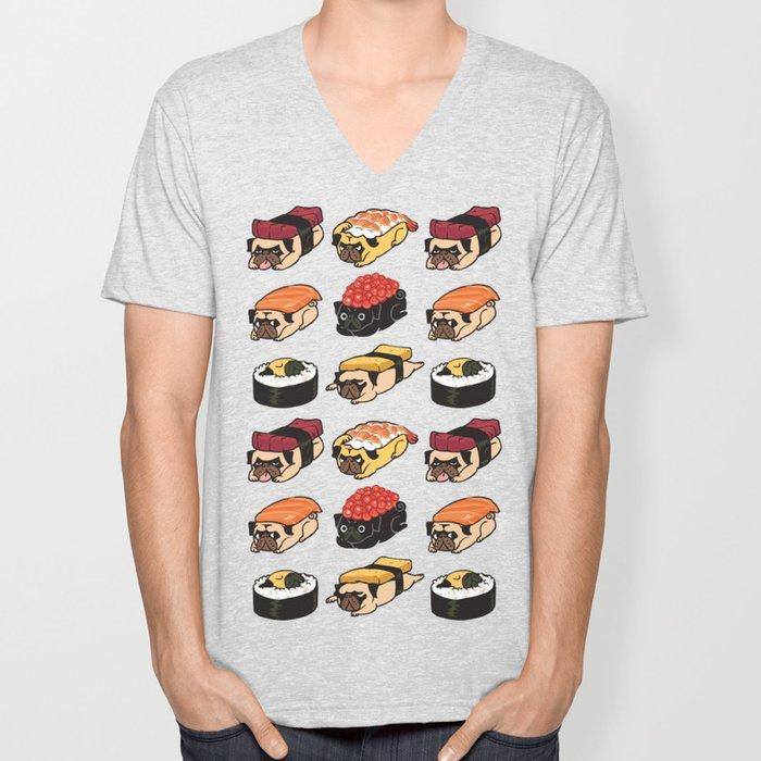 Sushi Pug Unisex V-Neck