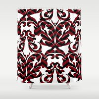 damask Shower Curtains featuring Damask by Annie Skrmetti