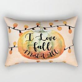 I Love Fall Most of All Rectangular Pillow